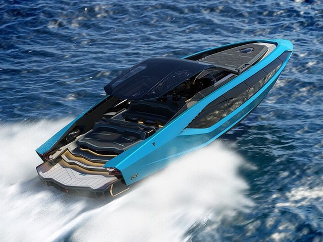 Supercar-Inspired Yachts - The Tecnomar for Lamborghini 63 Yacht is Luxuriously Appointed (TrendHunter.com)