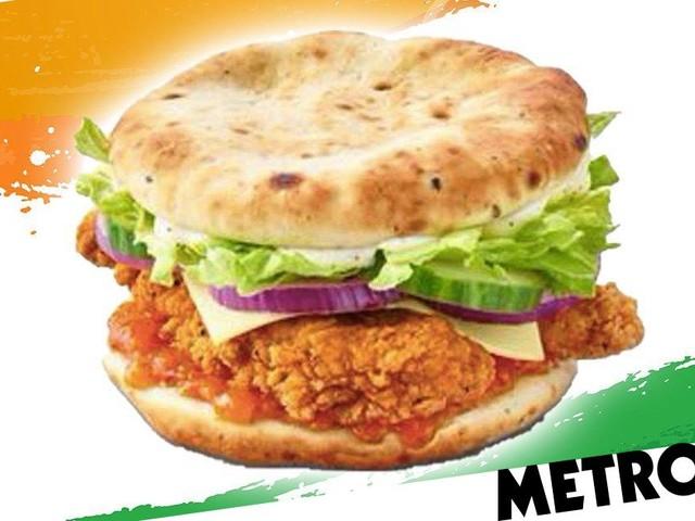 McDonald's is launching an Indian chicken burger with garlic naan as the bun