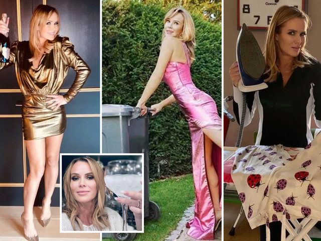 Amanda Holden's living the lockdown life we all want with bin runs in ball gowns, wild Zoom parties and litres of booze