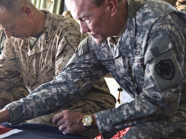 A former top military official has a wooden box with a sobering reminder about Gold Star families