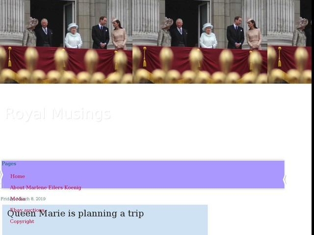 Queen Marie is planning a trip
