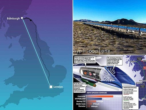 Interactive map shows incredibly speedy Hyperloop journey times
