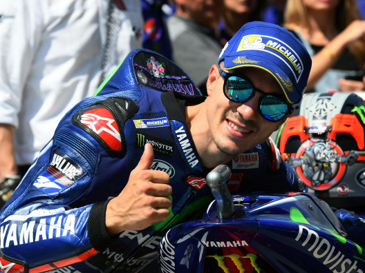 Vinales on pole ahead of Rossi for Italian GP