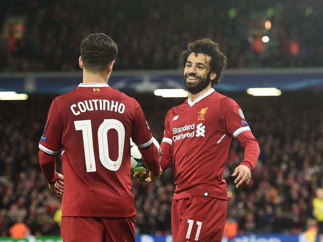 Mohamed Salah loved Philippe Coutinho's special message after Liverpool hat trick