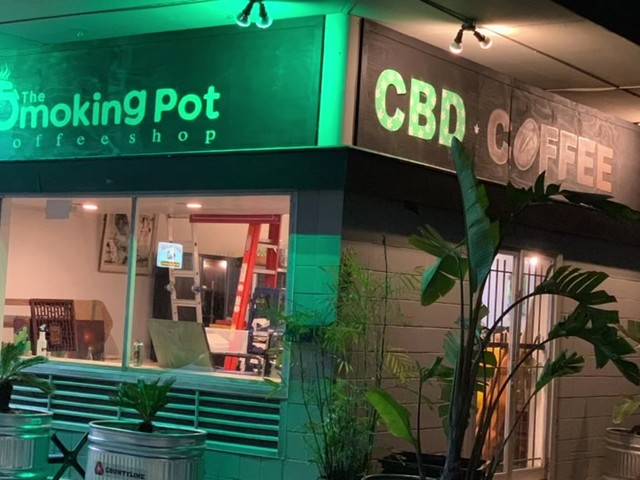One of Houston's first CBD coffee shop to open on 4/20