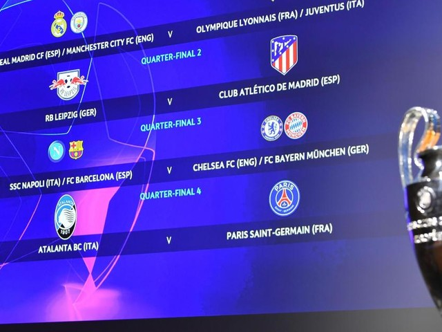 Champions League draw throws up possible Barcelona-Bayern clash