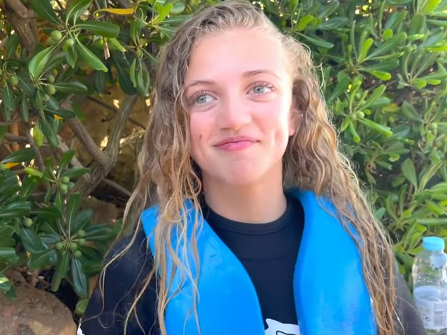 Peter Andre's daughter Princess breaks down in tears after surprise dolphin swim