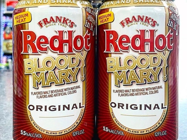 Canned Bloody Mary Cocktails - Frank's RedHot Bloody Mary Comes in a Ready-to-Drink Can (TrendHunter.com)