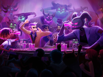 Oxenfree devs announce Afterparty, a Hellish pub crawl