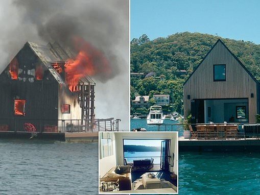 Palm Beach Lilypad house boat goes up in flames