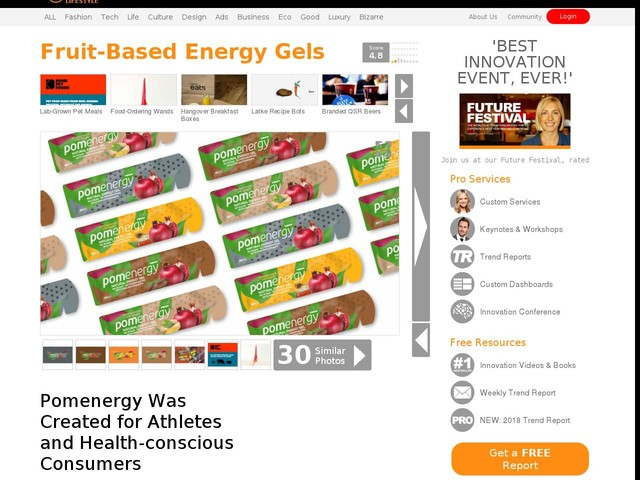 Fruit-Based Energy Gels - Pomenergy Was Created for Athletes and Health-conscious Consumers (TrendHunter.com)