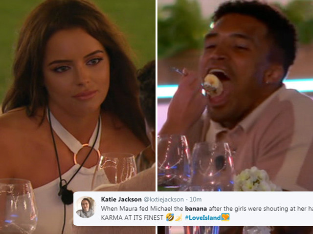 Love Island's Maura sends viewers wild as she FEEDS Michael a banana on romantic date to hit back at 'immature' girls heckling her