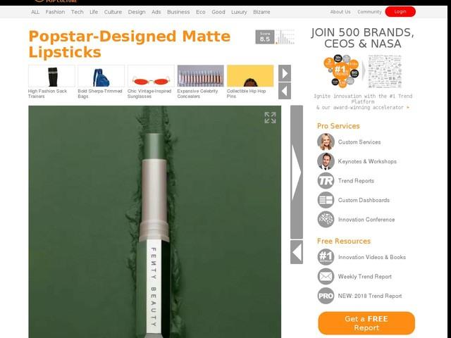 Popstar-Designed Matte Lipsticks - Rihanna's Fenty Beauty 'Mattemoiselle' Range Features 14 Shades (TrendHunter.com)