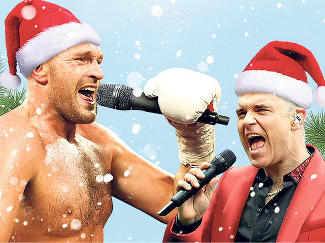 Tyson Fury teams up with Robbie Williams on festive duet in fight for Christmas No1