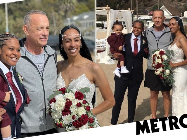 Tom Hanks surprises newlywed couple as he casually crashes 'most beautiful wedding' wearing tracksuit