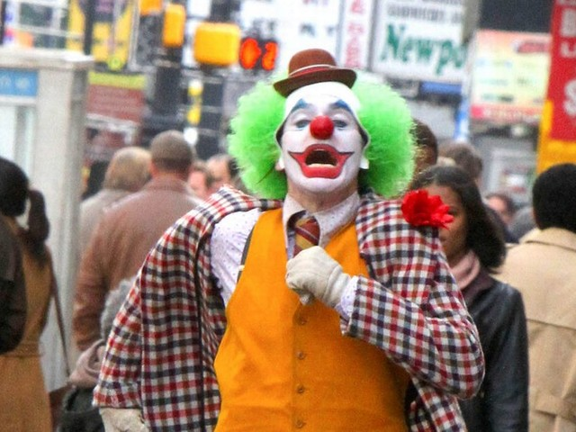 Joaquin Phoenix spotted in traditional clown costume on set of Joker movie