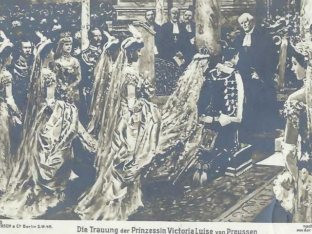 THE MARRIAGE OF VICTORIA LUISE OF PRUSSIA AND PRINCE ERNST AUGUST OF HANOVER