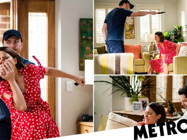 Neighbours spoilers: Pregnant Elly dies as Robert takes her hostage?