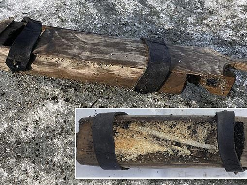 Melting Norwegian glacier releases 500-year-old perfectly preserved wooden box full of candles