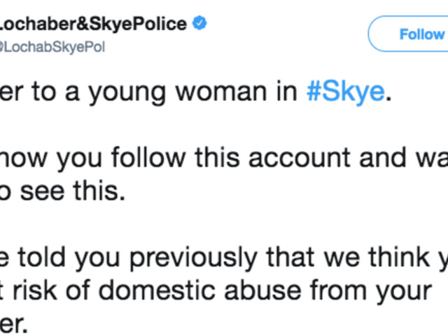 Police Force Praised For Tweeting Powerful Open Letter To Women In Abusive Relationships