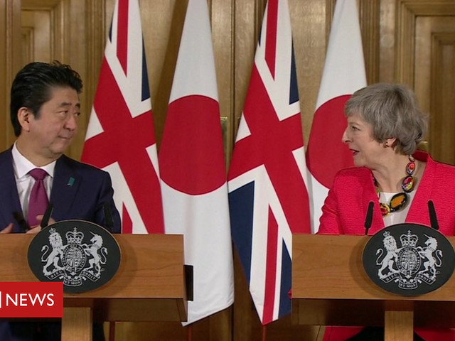 Brexit: Japan's PM says 'wish of whole world' to avoid no-deal