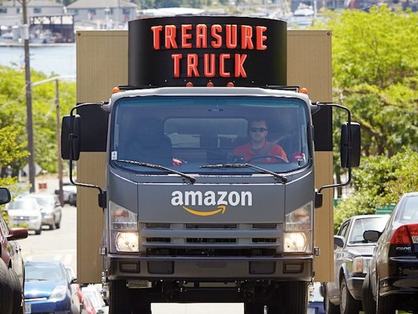 Amazon's 'Treasure Truck' is coming to the UK (AMZN)