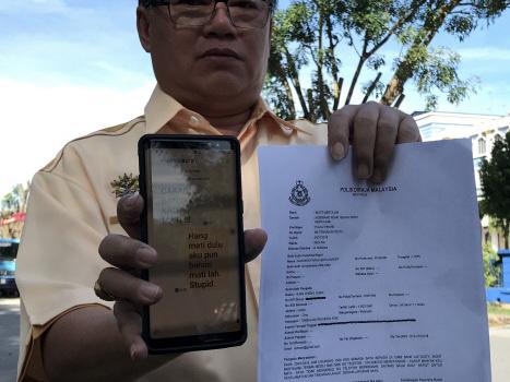 PCM VP lodges report over death threat
