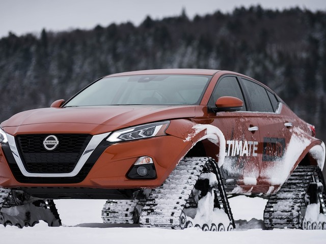 Altima-te AWD is the Latest Nissan to Get Snow Tracks