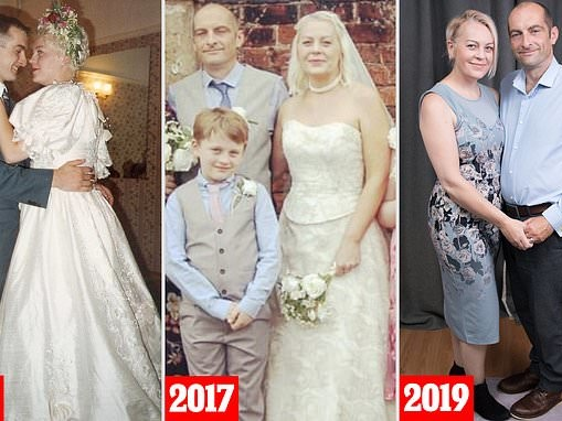 Couple who married young before divorcing the week of their 10th anniversary tie the knot AGAIN