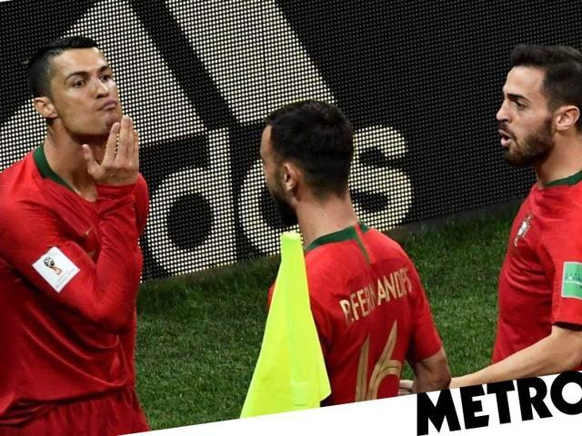 World Cup fans speculate Cristiano Ronaldo's chin stroke celebration was dig at David de Gea