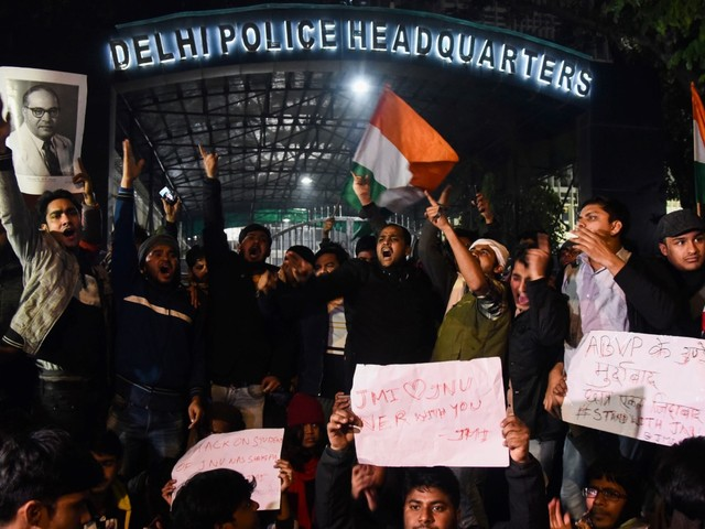 Protests after masked men attack Indian university