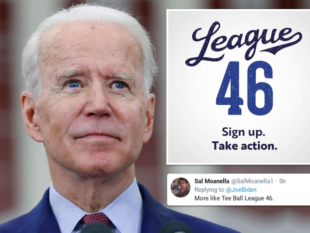 Biden's new baseball-themed 'League 46' outreach program to young voters trolled on Twitter