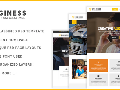 Enginess - Multipurpose PSD Template for Business (Business)
