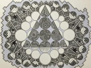 Patterns in Pen, Felt pens & Sharpies, 60cm x 80cm