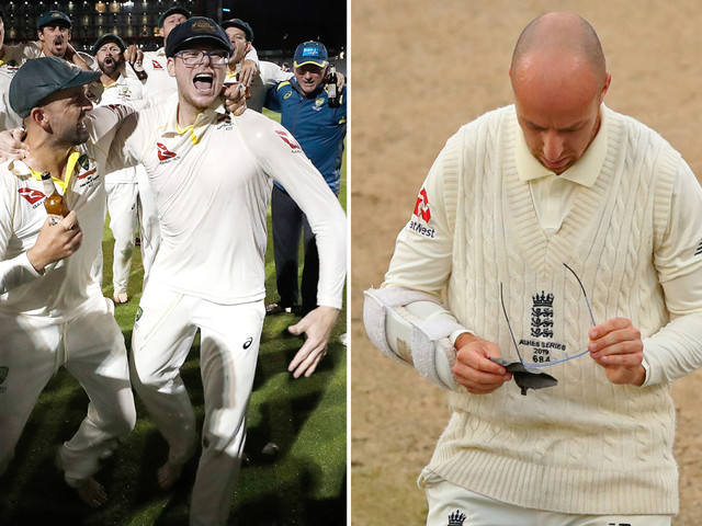 'Classless' Steve Smith slammed after mocking Jack Leach with glasses celebration after retaining the Ashes