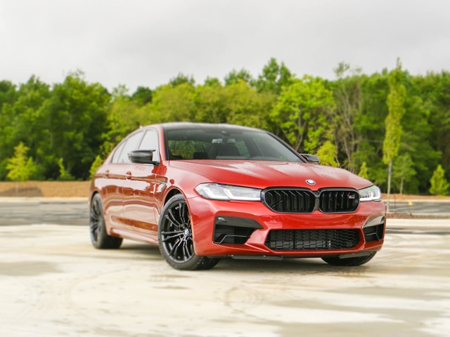 BMW M5 Competition looks stunning in Motegi Red from BMW Individual