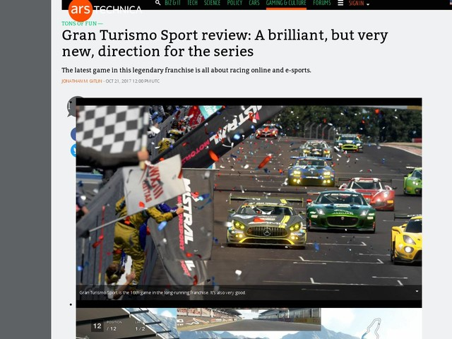 Gran Turismo Sport review: A brilliant, but very new, direction for the series