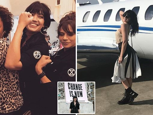 Daisy Lowe admits she is a hypocrite for Extinction Rebellion protests and private jet flights