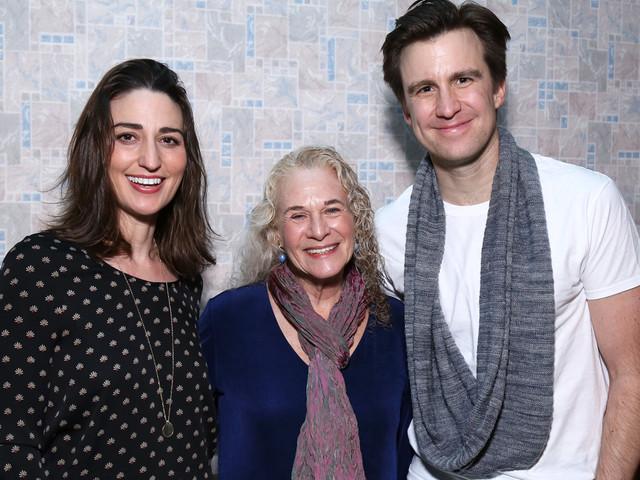 Carole King Visits Sara Bareilles & Gavin Creel at 'Waitress' Peformance!