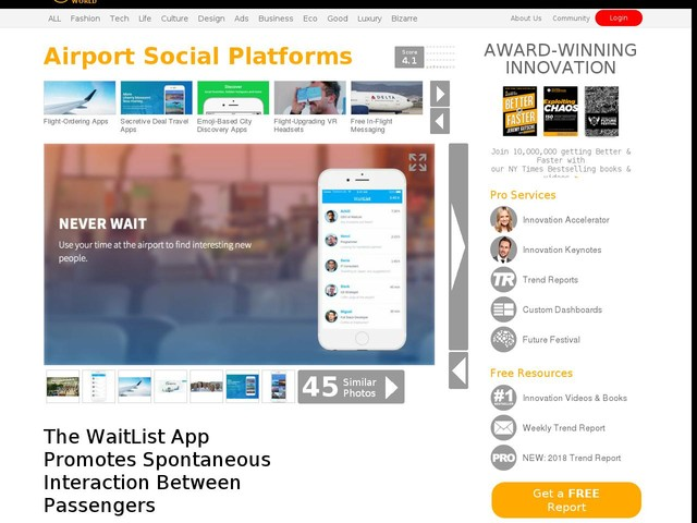 Airport Social Platforms - The WaitList App Promotes Spontaneous Interaction Between Passengers (TrendHunter.com)