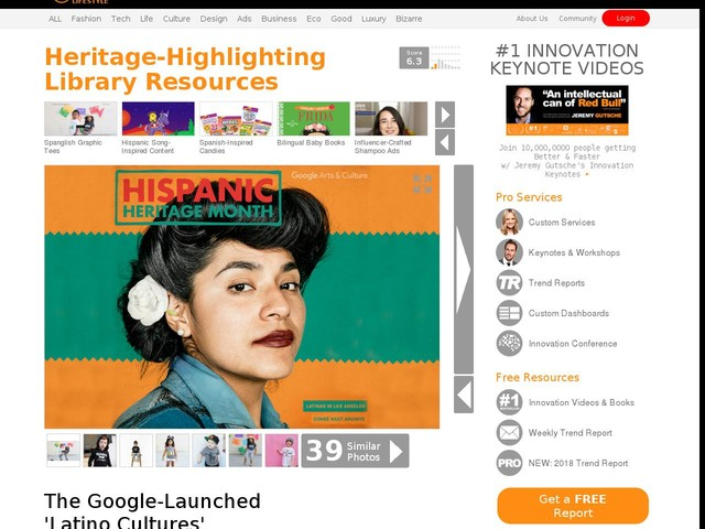 Heritage-Highlighting Library Resources - The Google-Launched 'Latino Cultures' Diversifies the Web (TrendHunter.com)