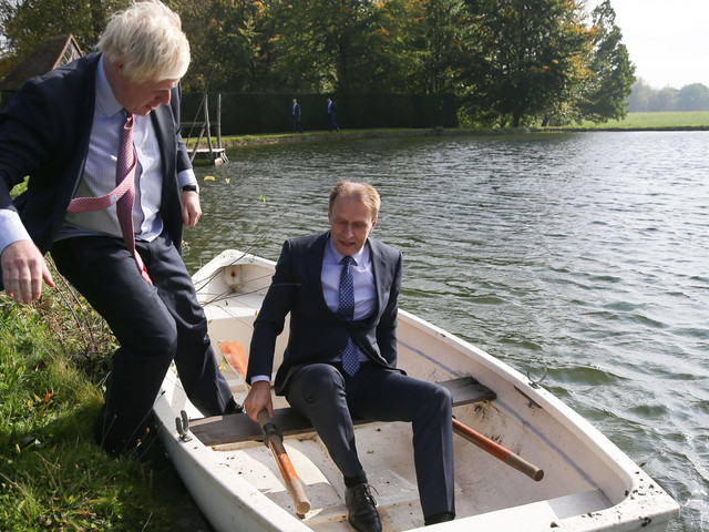 Boris Johnson Rows Boat With EU Minister But Not Everyone Appears Impressed