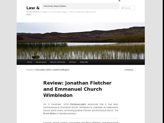 Review: Jonathan Fletcher and Emmanuel Church Wimbledon