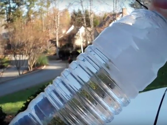 He Knocked A Bottle Of Water Against His Car And It Froze Instantly. Here's Why.