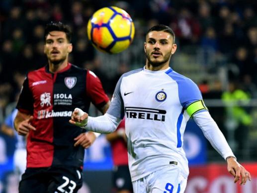Icardi brace sends Inter Milan top