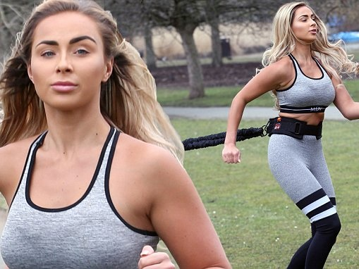 Georgia Cole maintains her toned frame during workout in London