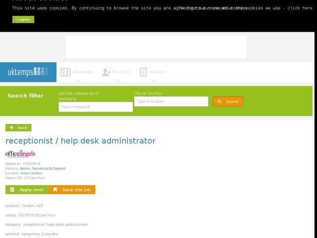 receptionist / help desk administrator