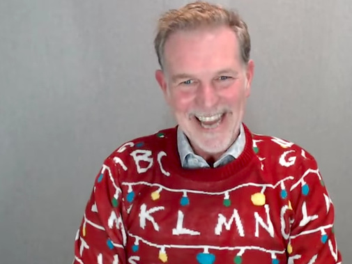 Netflix's top execs all wore ugly 'Stranger Things' sweaters on the Q3 earnings call, and the stunt highlights an important new business (NFLX, TGT)