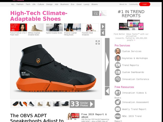 High-Tech Climate-Adaptable Shoes - The OBVS ADPT Sneakerboots Adjust to Any Conditions (TrendHunter.com)