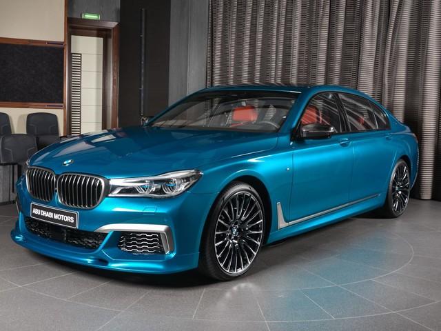 BMW M760Li xDrive in Long Beach Blue Is an Eye Catcher in Abu Dhabi